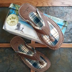 Margaritaville Leather Flip Flops